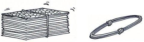 打包的网箱和绑扎丝